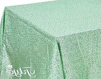 TRLYC 60 120-Inch Rectangular Tablecloth Mint
