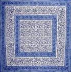 "60"" x 60"" 100% Cotton Handmade Table Cloth Cover Hand Block"