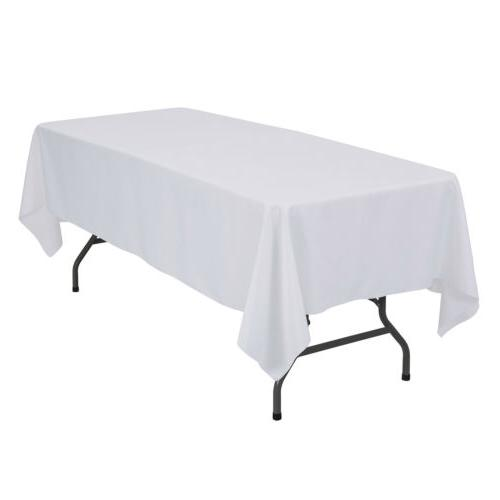 """60""""X102"""" Rectangle Tablecloth Table Cover Party Banquet"""