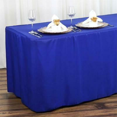 6FT Fitted ROYAL BLUE Polyester Table Cover Commercial Grade