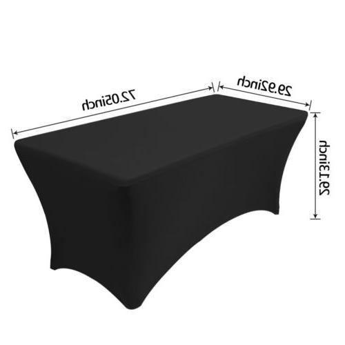 6ft Spandex Tablecloth Rectangular Elastic Protector