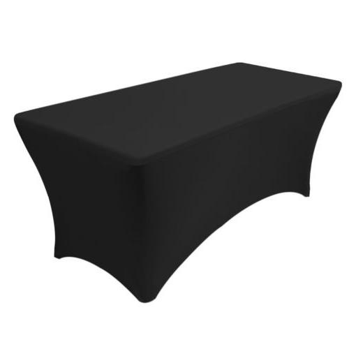 6ft spandex fitted stretch tablecloth rectangular table