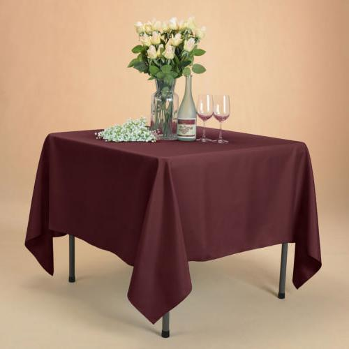 """70x70"""" Polyester Table Cover Party Banquet Events"""