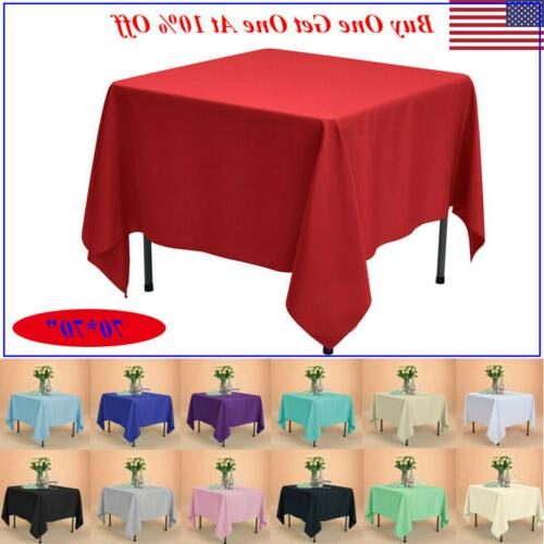 70x70 square tablecloth polyester table cover