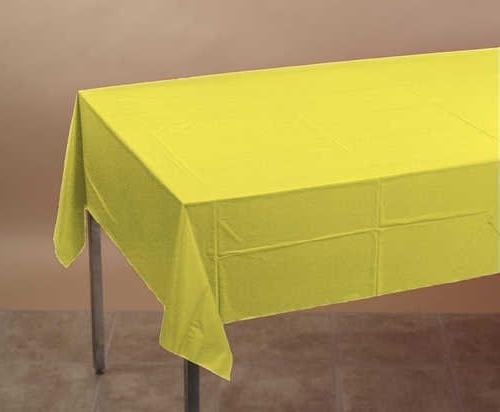 Creative Converting Tissue/Poly Tablecover 108 Solid