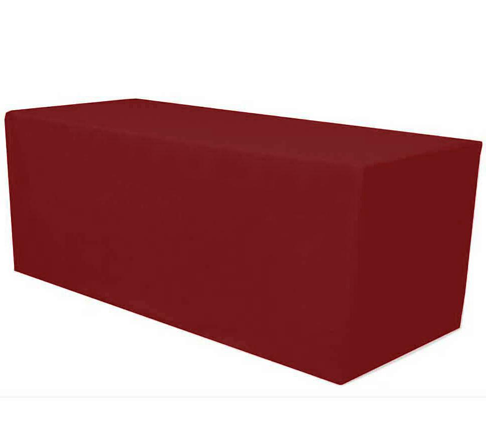 8 ft fitted polyester tablecloth table cover