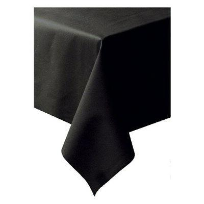 Hoffmaster 8108-D13 Linen-Like Black Table Cover Banquet Siz
