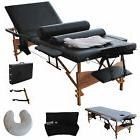 """84""""L Portable 3 Fold Massage Table Facial Spa Bed W/2 Pillow"""
