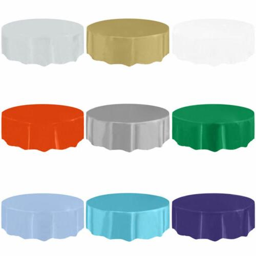 """84"""" Round Table Cover Wedding Party"""