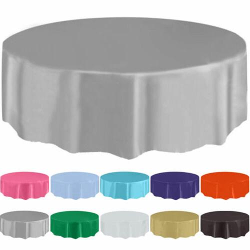 """84"""" Round Table Cover For Wedding Banquet Party Decoration"""