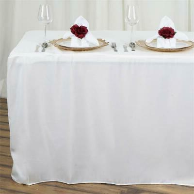 8FT Fitted IVORY Polyester Table Cover Commercial Grade Wedd