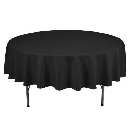 "90"" Round Polyester Table Cover Parties Dinner"
