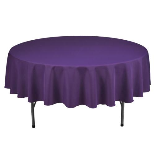 "90"" Round Table Cover Parties Holiday Dinner"