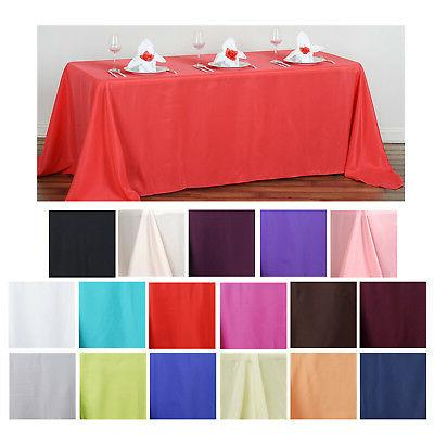 90x132 polyester rectangle tablecloths