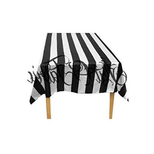 ArtOFabric Decorative Cotton Black and White Stripped Tablec