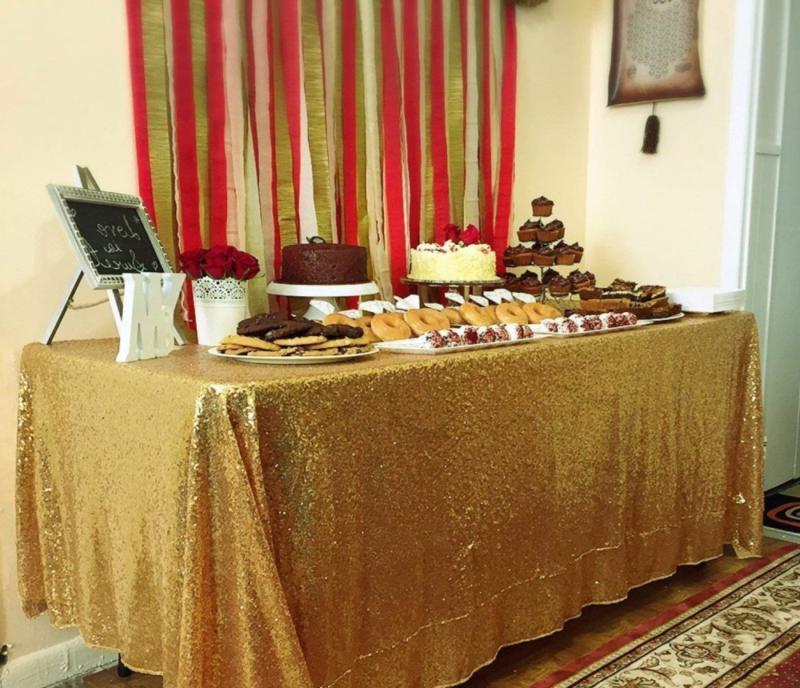 BalsaCircle 60x102-Inch Tablecloth for Wedding Cake Linens