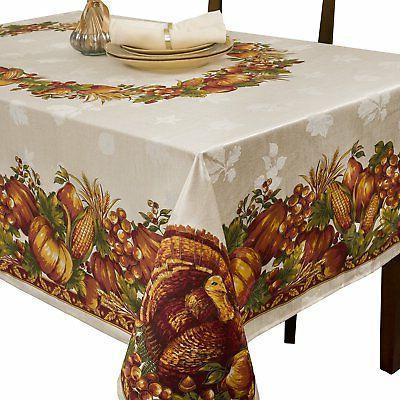 Benson Mills Harvest Splendor Engineered Printed Fabric Tabl