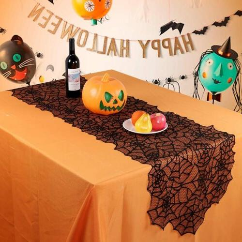 Black Lace Table Runner Tablecloth Party Table