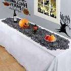 Black Lace Spider Web Table Runner Tablecloth Halloween Part