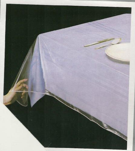 deluxe collection clear tablecloth protector