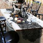 Halloween Spider Web Black Table Runner Lace Tablecloth Cove