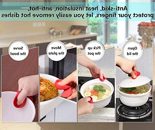 Silicone Pot Holders, YYP Silicone Resistant Pot Holders, Oven Mini Mitts, Cooking Kitchen- Red