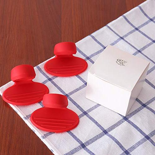 Silicone Pot Holders, Silicone Resistant Pot Holders, Mini Mitts, Kitchen- Red