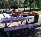 Stay Put Fitted 6 ft Tablecloth and bench covers 3 pc. set P