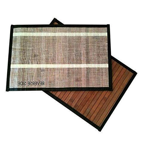 Stylish Wide Slat Placemat - - by Sustainable