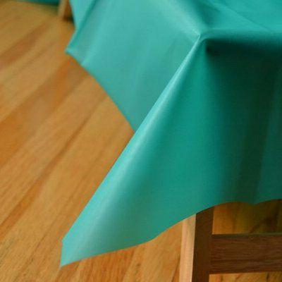 """Teal Green Reusable Table Cover 54"""" x 108"""" Heavy Duty"""