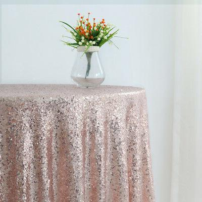 """Trlyc 108"""" Rose Gold Sequin Round Tablecloth Wedding Party H"""