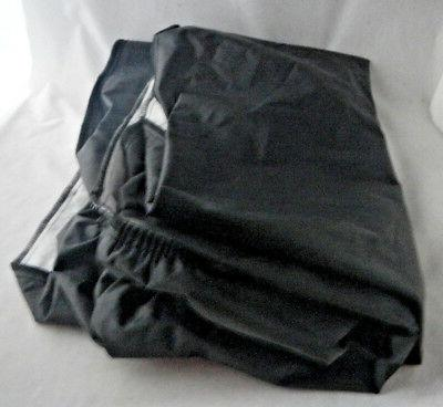 """Vinyl Fitted Topper Cover 18"""" Tablecloth Lined"""