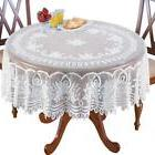 """WHITE LACE 70"""" ROUND TABLE CLOTH LINENS TABLECLOTH"""
