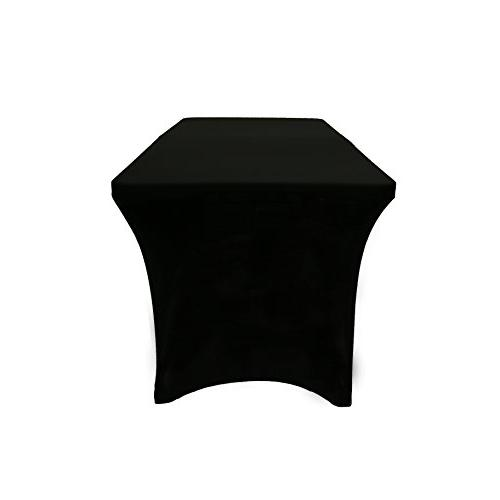 "Your Chair Stretch for Ft Rectangular 30"" Height Tablecloth Standard Black"