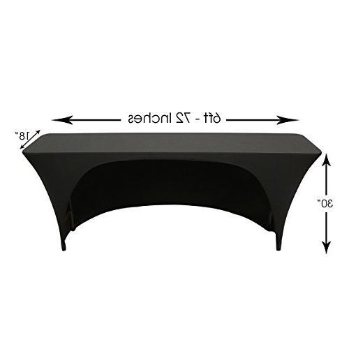 Spandex Ft 18 Inches,Narrow Classroom Open Back Rectangular -
