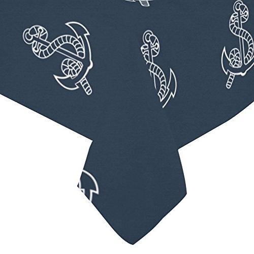 ADE Cover Navy Nautical Sailor Spirit Tablecloth Decor Table