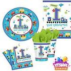 All Aboard Party 1st Birthday Baby Party Tableware Decoratio