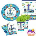 All Aboard Tableware 1st Birthday Baby Party Cups Plates Nap