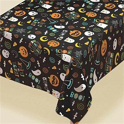 Amscan Hallo-ween Friends Flannel Backed Tablecover - 2.6m