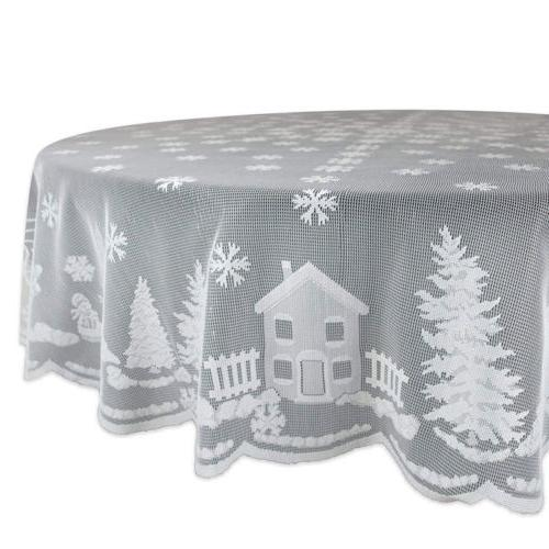 Lace Tablecloth Pattern Decor Solid