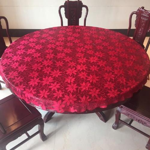 Lace Tablecloth Pattern Table Decor Solid