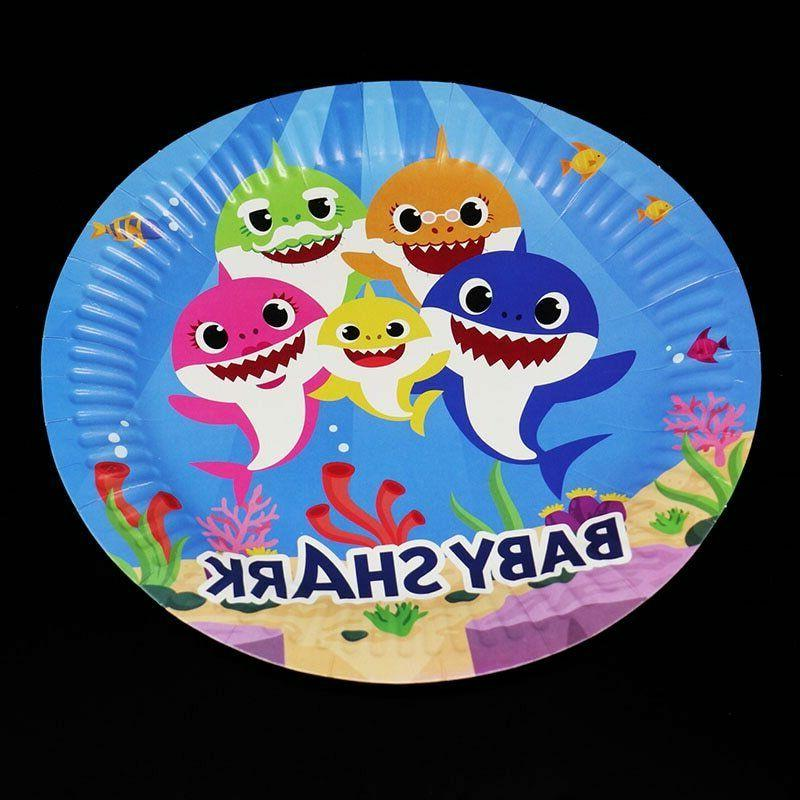 BABYSHARK SUPPLIES BABY SHARK BALLOON CUP PLATE TABLE COVER