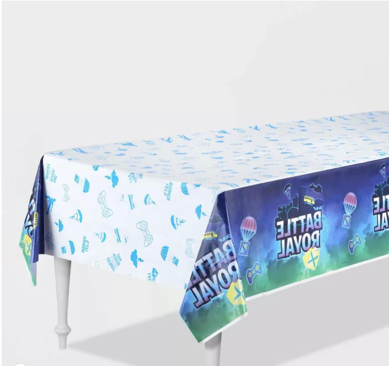 battle royal paper table cover birthday party