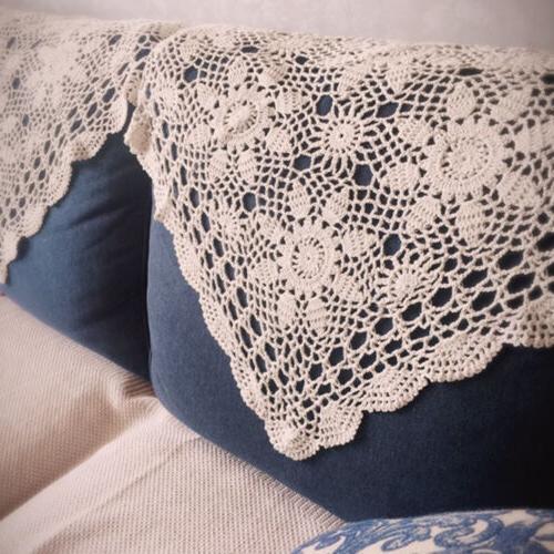 beige handmade crochet doilies tablecloth cotton lace
