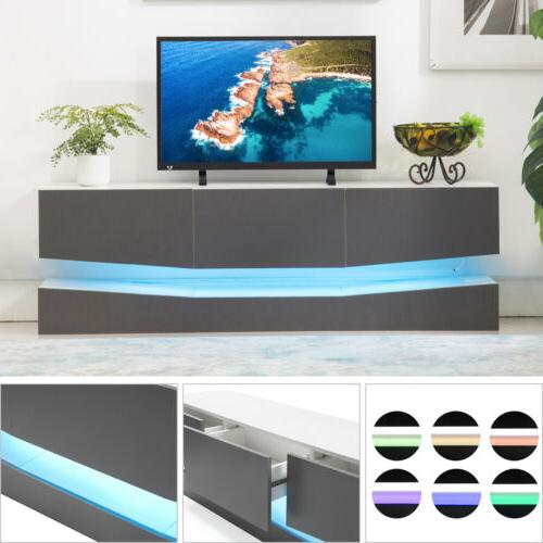 Floating Entertainment Center LED TV Stand Wall Mount Cabine