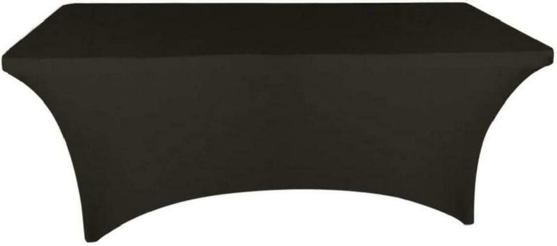 Banquet Tables Pro Black 6 ft. Rectangular Stretch Spandex T