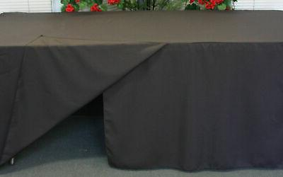 Black Tablecloth Polyester Cover