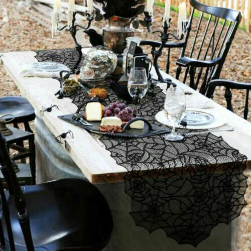 Black Table Runner Fireplace Scarf Cloth Cover