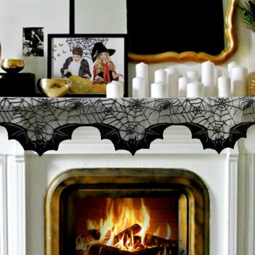 Black Lace Table Cloth Halloween