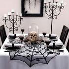 Black Lace Spiderweb Tablecloth Table Topper Cover 100cm Hal